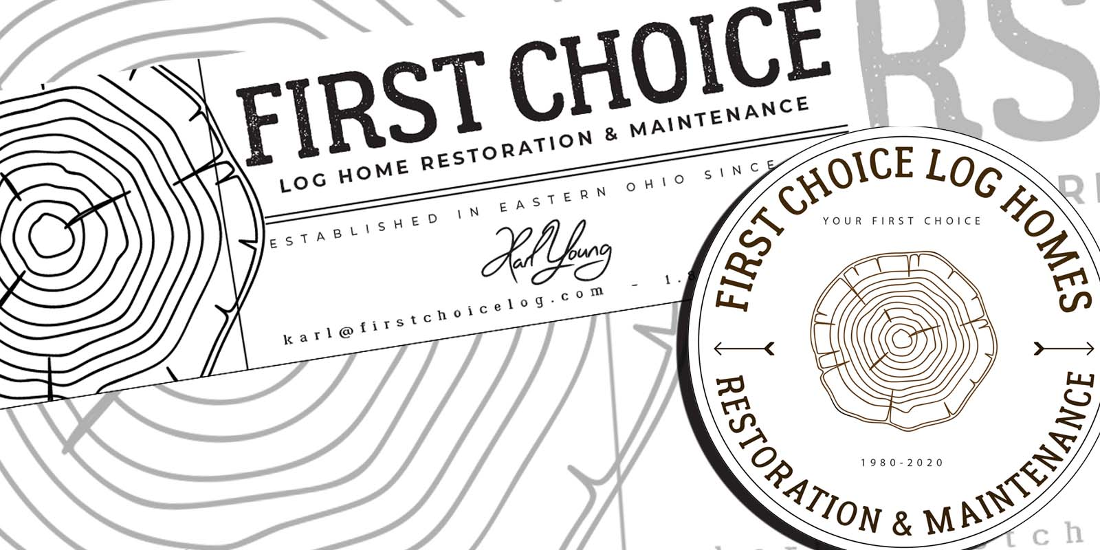 New Branding Logos and Marketing Assets for log home restoration company